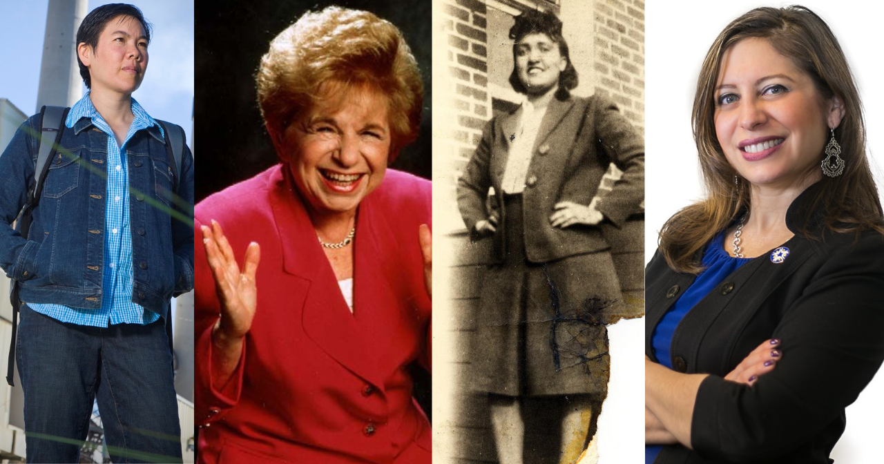 Headshots of Shen, Dr. Ruth, Lacks, and Gonzáles-Rojas
