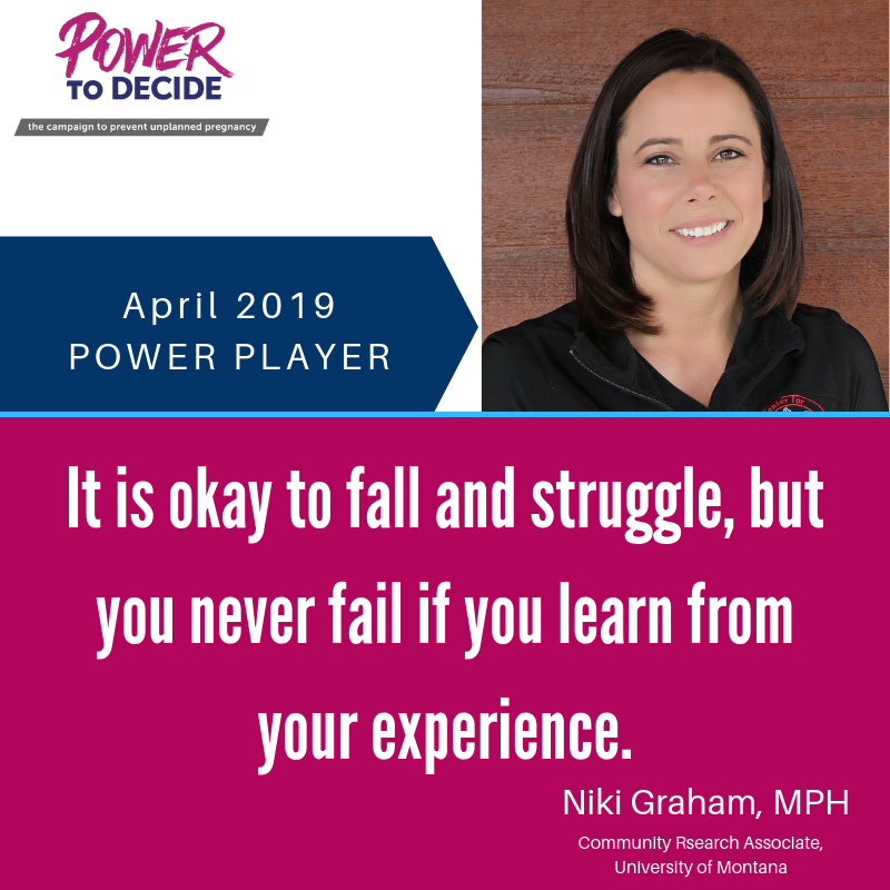"Niki Graham, ""It is okay to fall and struggle, but you never fail if you learn from your experience."""