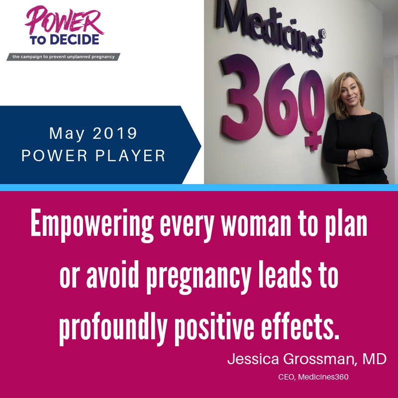 "Headshot of Dr. Grossman with the quote, ""Empowering every woman to plan or avoid pregnancy leads to profoundly positive effects."""