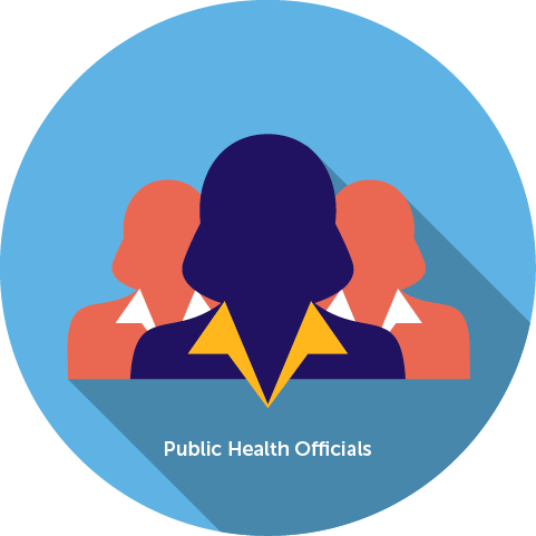 A button representing Public Health Officials