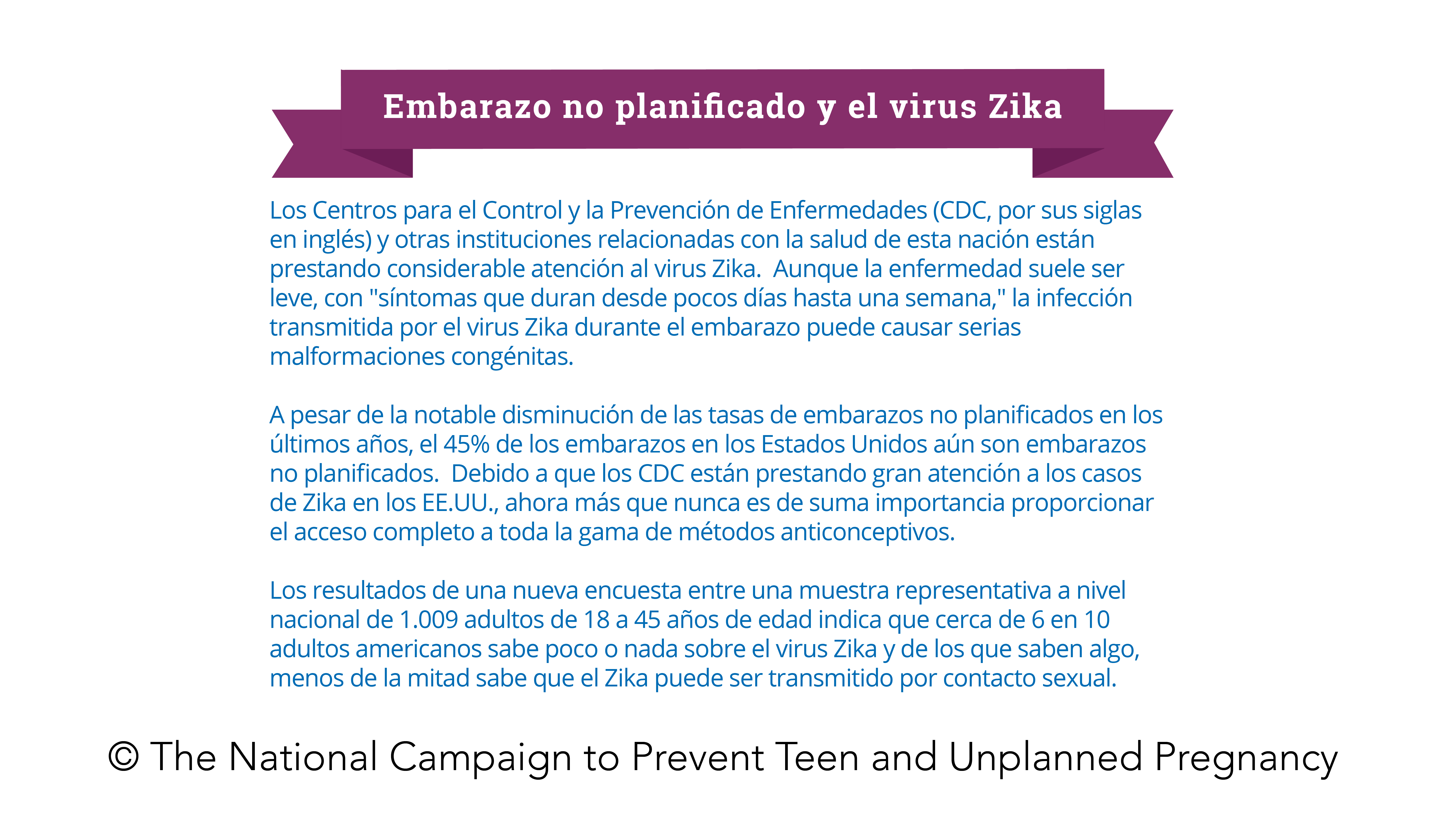 Survey Says: Unplanned Pregnancy and the Zika Virus (June