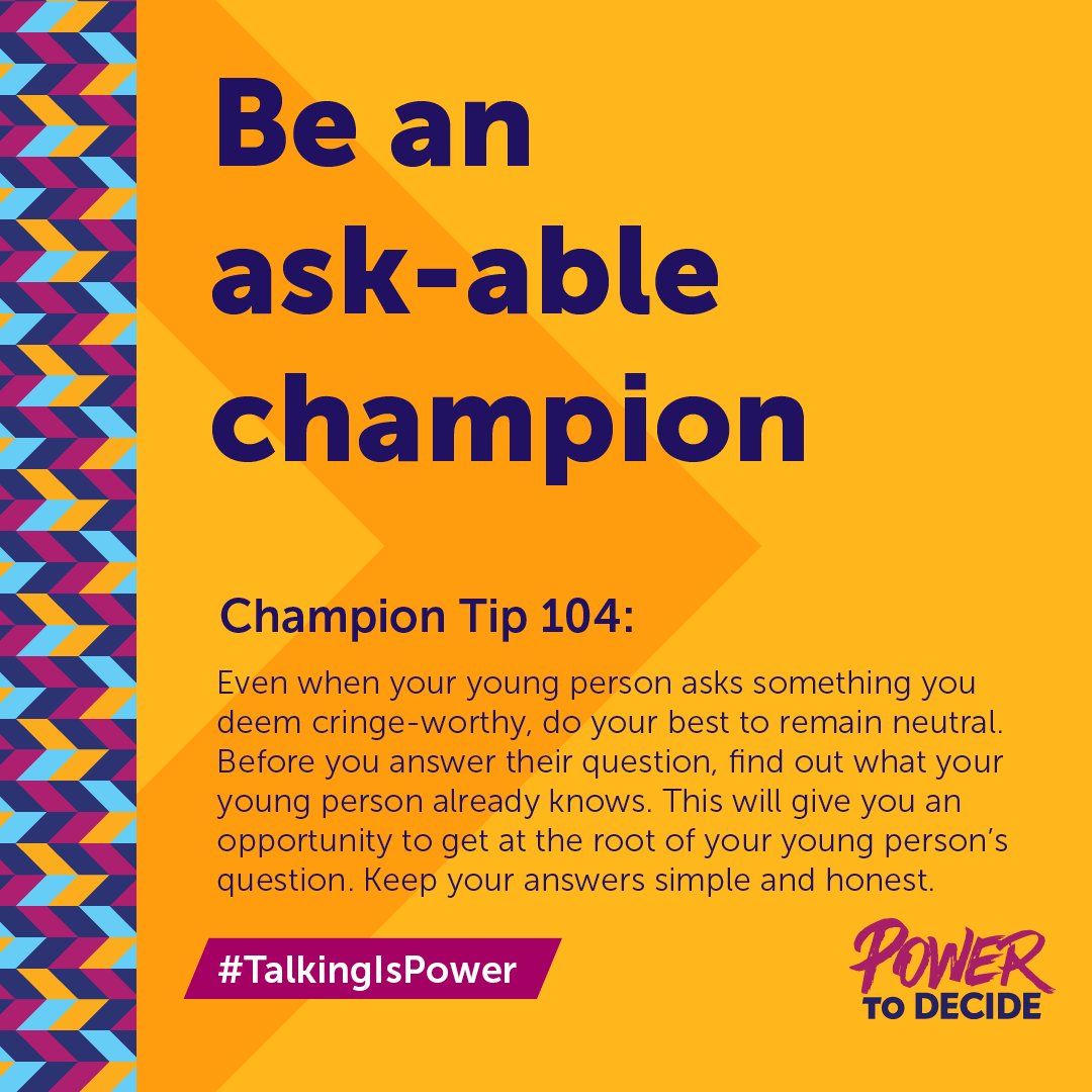 #TalkingIsPower Champion Tip 104: Be an ask-able champion