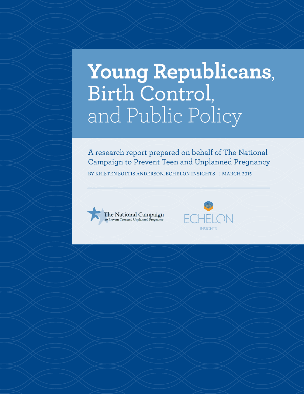 Young Republicans, Birth Control, and Public Policy