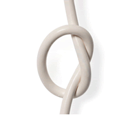 An image of a cord tied in a knot