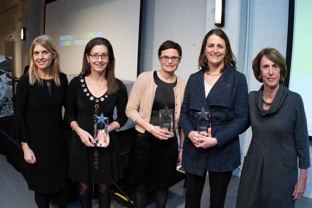 The Sarah S Brown awardees with their awards