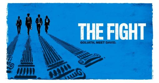 The movie poster for the movie, The Fight.