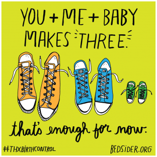 You + me + baby makes three. That's enough for now. #ThxBirthControl
