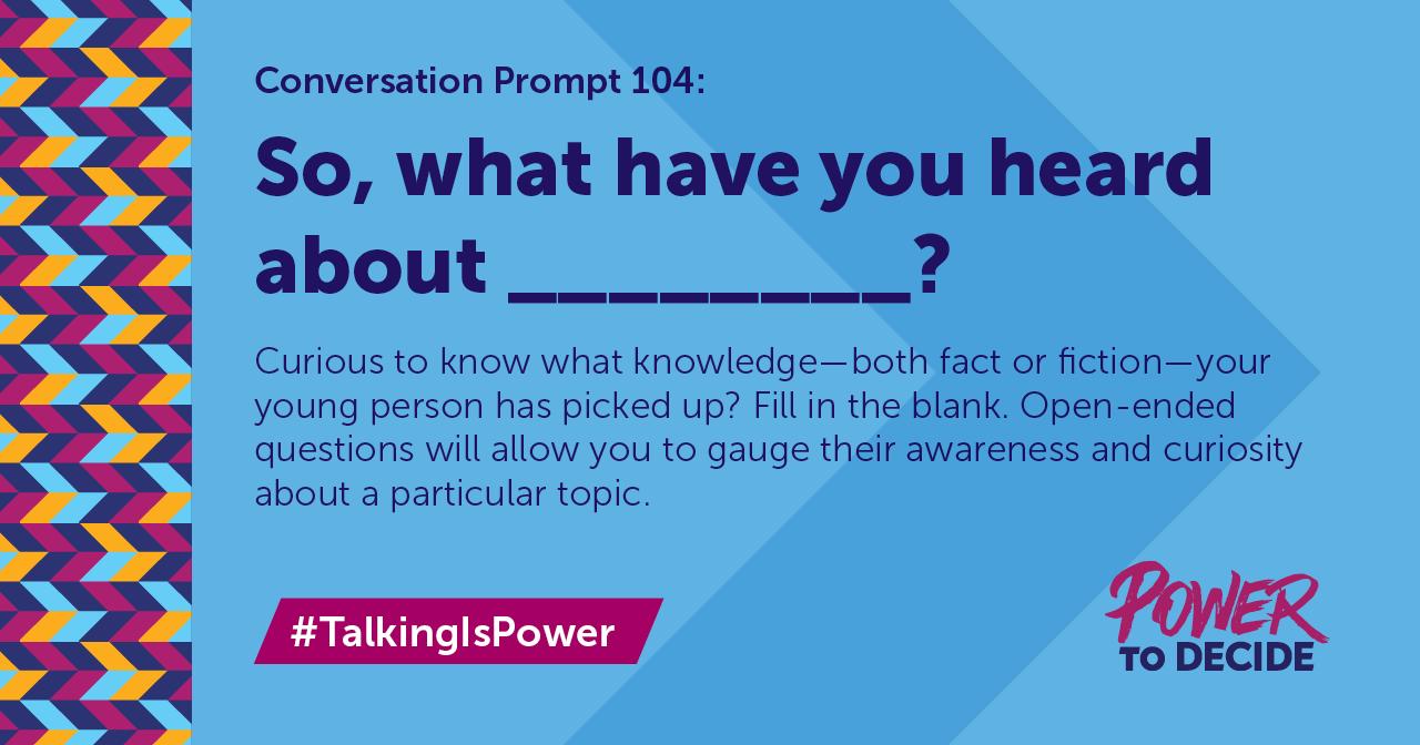 TalkingIsPower Prompt 104 | Power to Decide