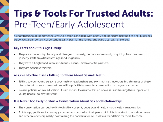 Tips & Tools For Trusted Adults: 8-12