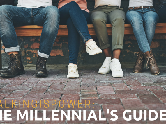 "A group of friends on a bench ""#TalkingIsPower: The Millennial's Guide"""