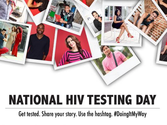 A graphic promoting National HIV Testing Day
