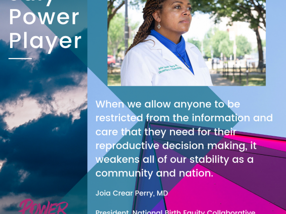 A picture and quote from Joia Crear-Perry, MD