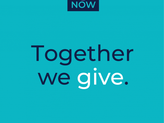 "A graphic that reads, ""Giving Tuesday NOW. Together we give."""