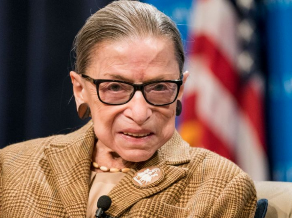A photo of Justice Ruth Bader Ginsburg.