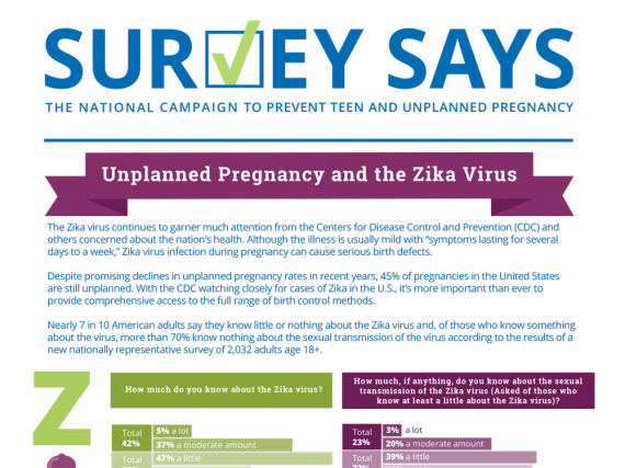 Survey Says: Unplanned Pregnancy and the Zika Virus (June 2017)