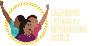The logo for California Latina for Reproductive Justice