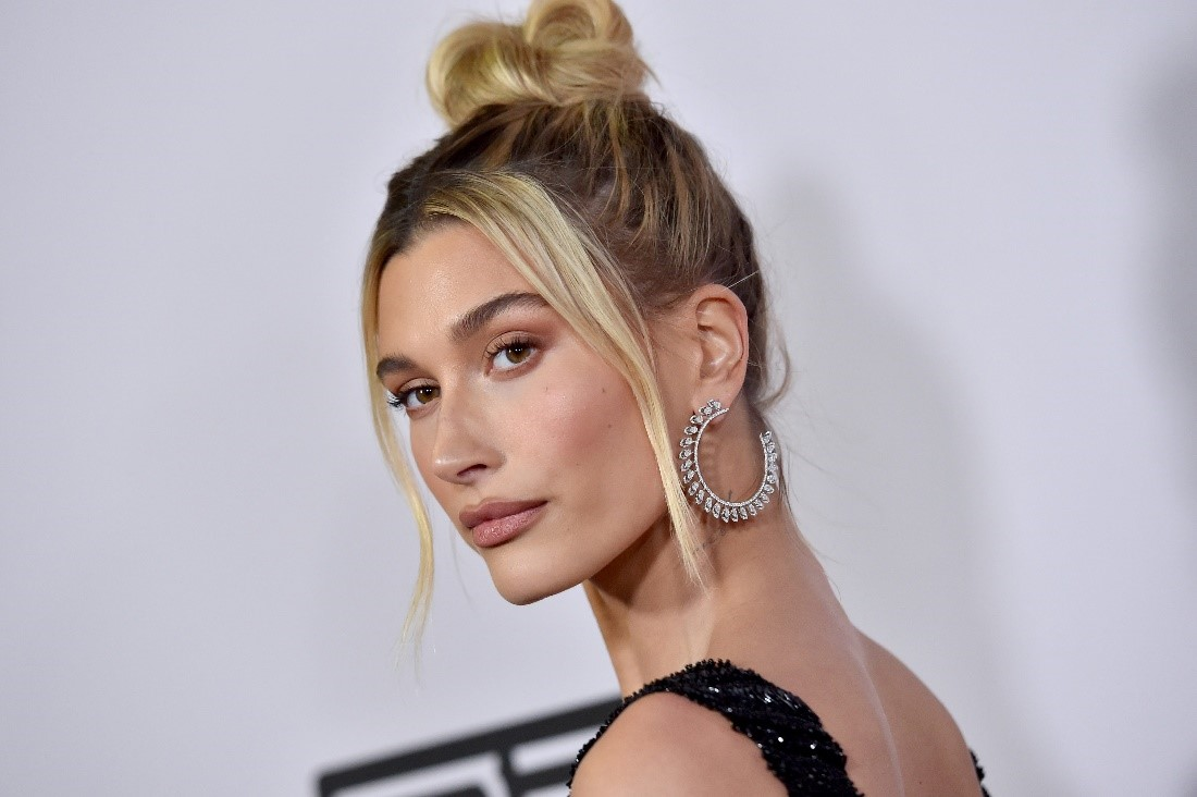 A photo of Hailey Bieber at an event.