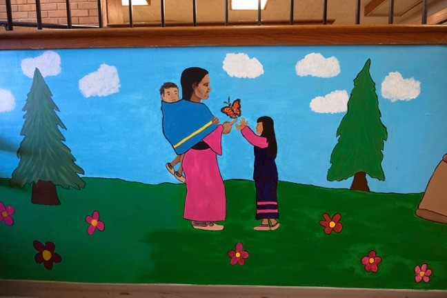 A mural in the Minnesota Indian Women's Resource Center